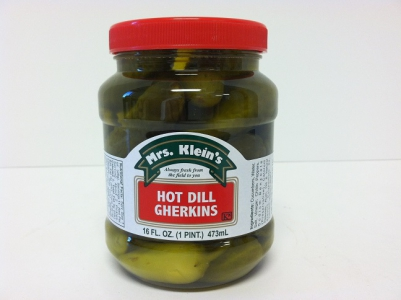 Hot Dill Gherkins
